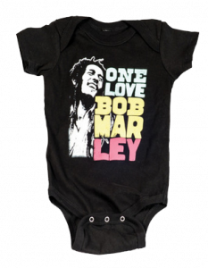 Bob Marley baby romper Smile Love (Clothing)