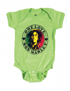 Bob Marley Baby romper One Love Lime
