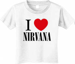 Nirvana T-shirt voor kinderen - I love Nirvana (Clothing)