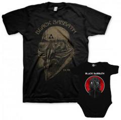 Duo Rockset Black Sabbath papa t-shirt & Black Sabbath baby romper