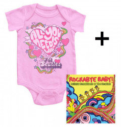 Cadeauset Beatles Romper All You Need Is Love & Beatles Rockabyebaby cd