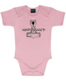 Amon Amarth Baby Romper Logo Pink