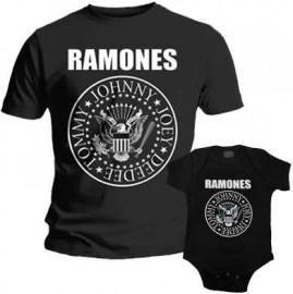 Duo Rockset Ramones papa t-shirt & Ramones baby romper