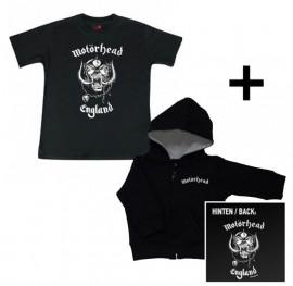 Cadeauset Motörhead Baby Hoody/vest met rits & Motörhead Baby t-shirt