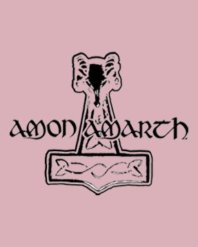 Amon Amarth baby body Logo Pink | Metal Kids and Baby collection