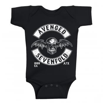 Avenged Sevenfold Baby Romper Deathbat Est 1999