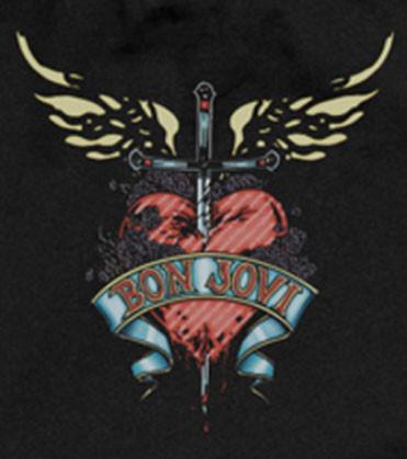 Bon Jovi romper Heart baby