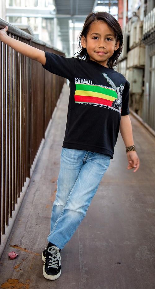 Bob Marley Kids T-shirt Stripe fotoshoot