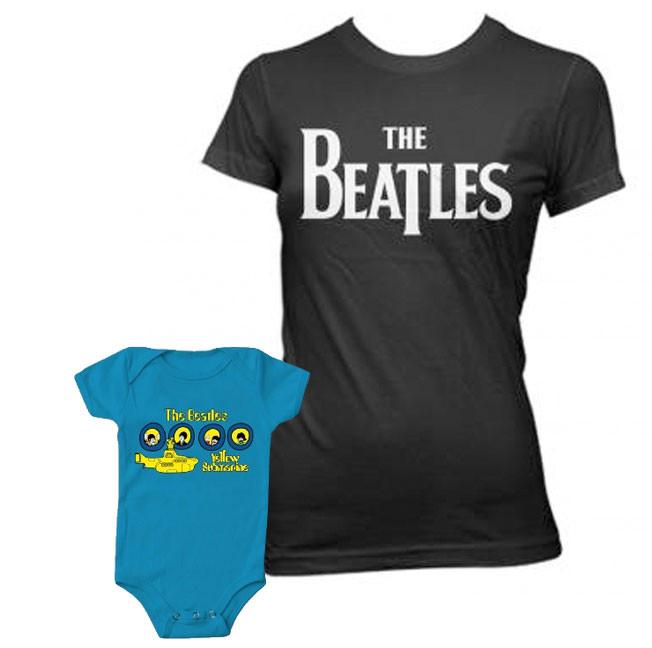 Duo Rockset The Beatles mama t-shirt & The Beatles baby romper Portholes
