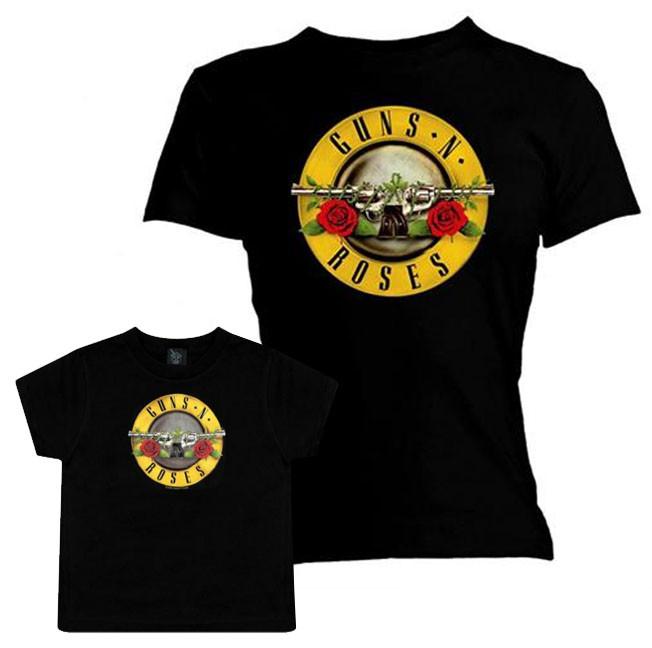 Duo Rockset Guns N' Roses mama t-shirt & Guns N' Roses baby T-shirt