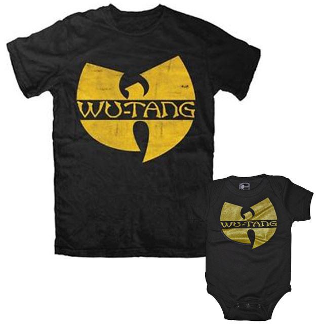 Duo Rockset Wu-Tang Clan papa t-shirt & Wu-Tang Clan baby romper