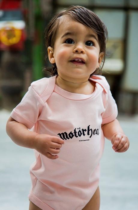 Motörhead Baby Romper Logo Pink fotoshoot