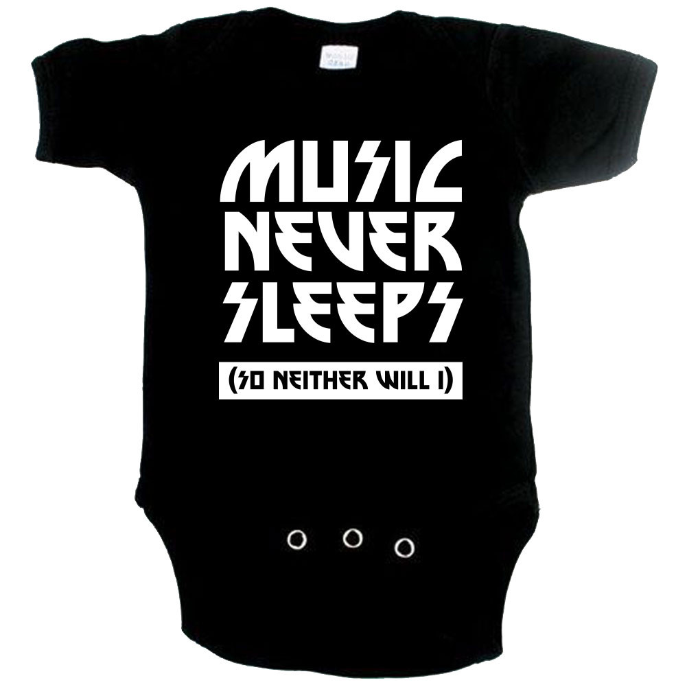 coole baby romper music never sleeps so neither will I