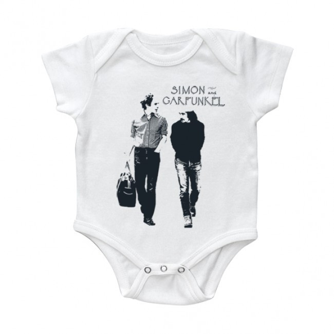 Simon & Garfunkel baby romper Walking White