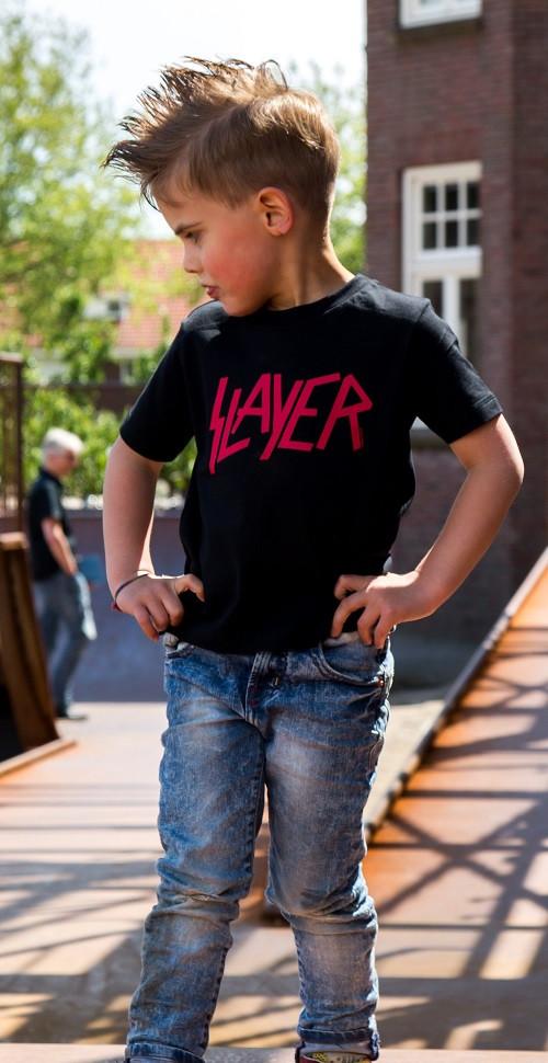 Slayer Kids T-shirt Logo Red fotoshoot