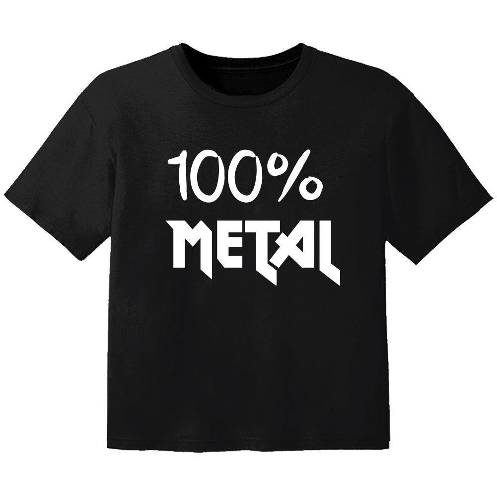 Metal baby t shirt 100% metal