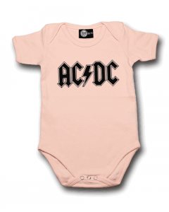 AC/DC baby body Logo Pink | Metal Kids and Baby collection