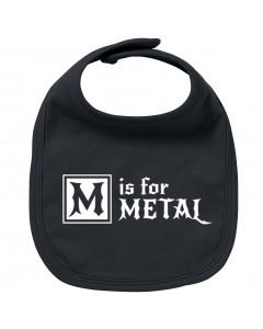 Metal baby bib M is for Metal