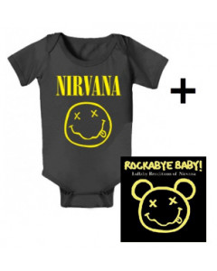 Cadeauset Nirvana body Smiley & Nirvana Rockabyebaby cd