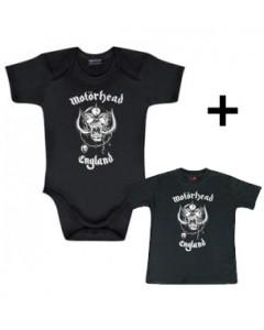 Cadeauset Motörhead body England & Motörhead Baby t-shirt England