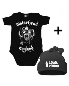 Cadeauset Motörhead Baby Romper & Loud & Proud Muts