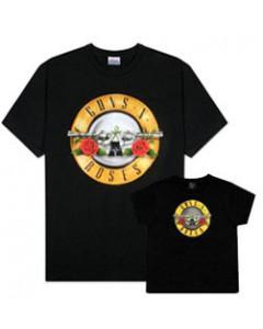 Duo Rockset Guns 'n Roses papa t-shirt & baby t-shirt
