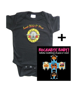 Cadeauset Guns and Roses body & Guns and Roses Rockabyebaby cd