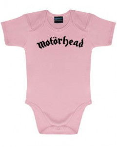 Motörhead baby body Logo Pink | Metal Kids and Baby collection