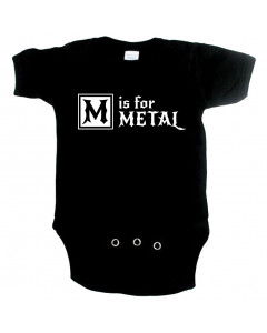 Metal baby romper M is for metal