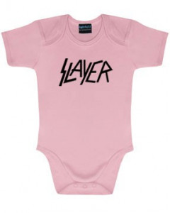 Slayer baby body Logo Pink | Metal Kids and Baby collection