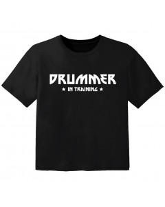 rock baby t-shirt drummer in training