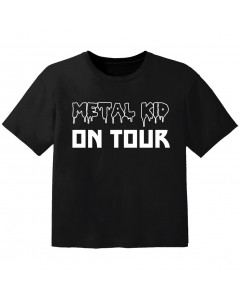 metal baby t-shirt metal kid on tour