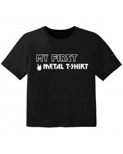 metal baby t-shirt my first metal t-shirt